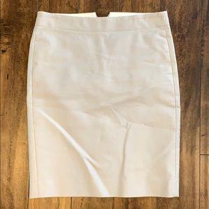 J. Crew light grey pencil skirt
